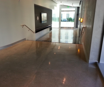 Residential Interior Stamped Polished and Decorative Concrete
