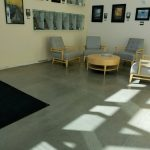 Interior Concrete Floor by Bay Area Concretes at an Office