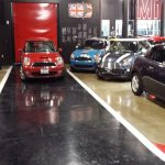 polished concrete at mini by Bay Area Concretes