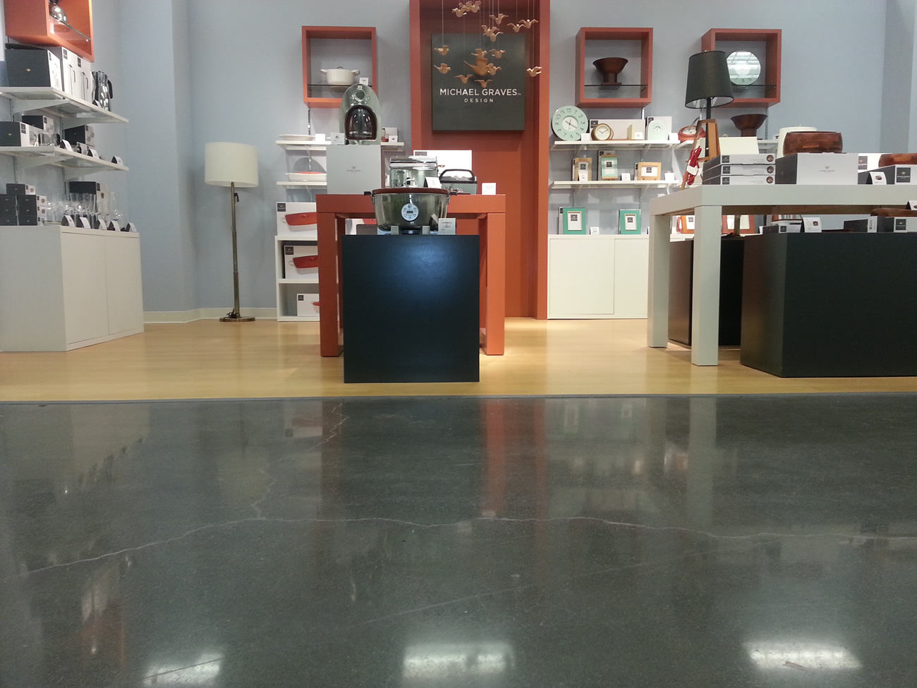 Polished Concrete Floor At A Retail Store